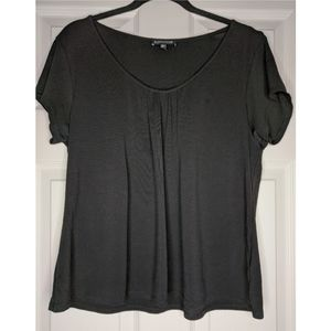 Eileen Fisher Black Silk Cap Sleeve Top - Large